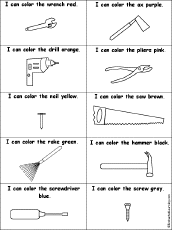 construction tools coloring pages tools at enchantedlearning com