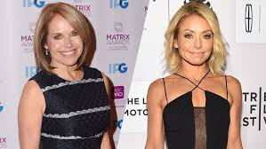 hair color kelly ripa uses katie couric on kelly ripa live clearly feelings were hurt