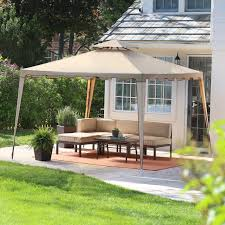 Patio Gazebo Replacement Covers by Belham Living Crawford 13 X 11 Ft Hexagon Gazebo Canopy Hayneedle