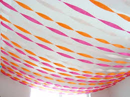 streamers paper crepe paper walls lanterns plaid improvised