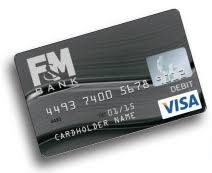 debt cards debit cards from f m bank