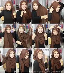 tutorial hijab pashmina kaos yang simple kumpulan tutorial hijab pashmina terbaru yang simple dan stylish