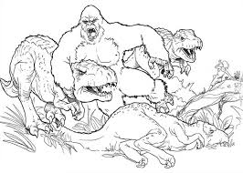 super king kong dinosaur coloring pages super king