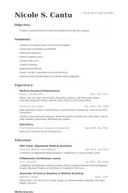 Examples Of Resumes For Medical Assistants by Phlebotomist Resume Samples Visualcv Resume Samples Database