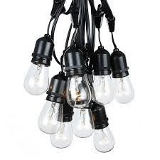 outdoor string light chandelier 100 foot s14 edison outdoor string lights suspended commercial