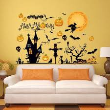 Diy Halloween Wall Decorations Wholesale High Quality Diy Halloween Pumpkin Lamp Witch Scarecrow