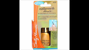 sally hansen nailgrowth miracle youtube