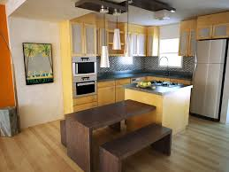 small open plan kitchen and dining room