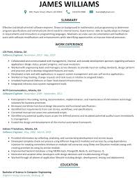 software developer resume sle software engineer resume software engineer resume sle
