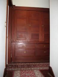 linen closet built in on second floor of craftsman bungalow in
