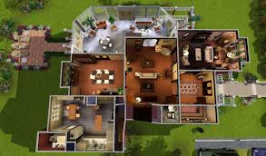 mod the sims halliwell manor blueprints of imaginary homes