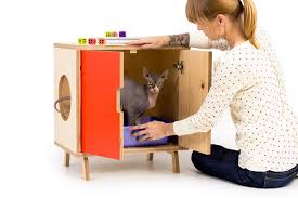 modern litter box cabinet mid century modern cat litter box furniture small cat litter