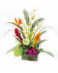 flower arrangement buy tropical orchids artificial flower arrangement at petals