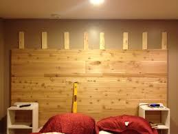cedar wood wall cedar plank headboard live be thrifty