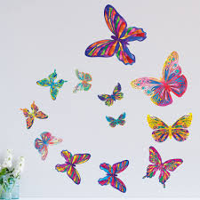 wall murals stencils stickers kids art room set butterfly wall stickers