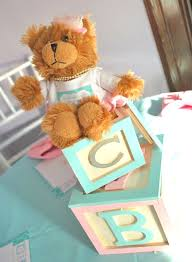 teddy centerpieces for baby shower pink and blue baby shower guest feature centerpieces babies