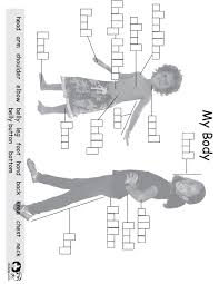 worksheets english my body