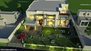 modern house building 3d front elevation com pakistan