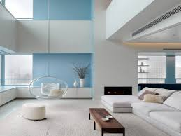 modern blue living room home interior design living room