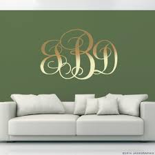 monogram wall decals personalise your rooms and walls monogram wall decals gold