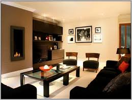 paint combinations brown color scheme in contemporary living room design wall