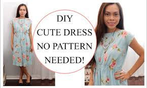 dress pattern without darts how to sew dress without pattern sewing project for beginners youtube