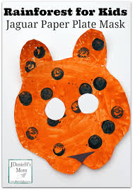 rainforest for kids jaguar paper plate mask