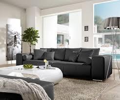 big sofa mit schlaffunktion und bettkasten big sofa marbeya 290x110 schwarz matt mit schlaffunktion