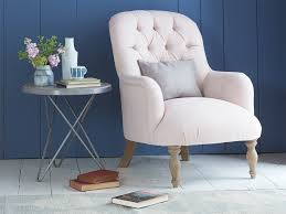 Pale Pink Armchair Flump Bedroom Chair High Button Back Armchair Loaf