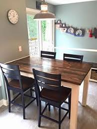 bar top kitchen table diy counter height table costs less than 150 to diy and is