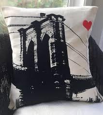 brooklyn bridge square pillow home decor u0026 lighting noteify