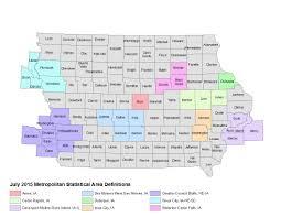 Iowa Counties Map Metropolitan Statistical Areas Iowa Community Indicators Program