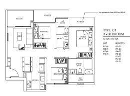 residence floor plan inz residence floor plan 3 bedroom c1 temasekhome