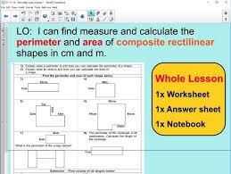 whole lesson perimeter and area composite rectilinear shapes