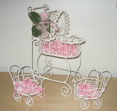 carriage centerpiece baby buggy decorations best baby decoration