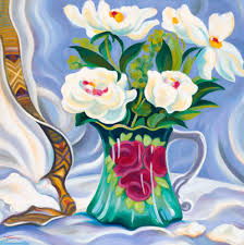 pitcher of roses tracy turner still lifes