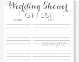 wedding gift list bridal shower gift list printable diy jar design with