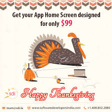 happy thanksgiving get your app home screen designed for only 99