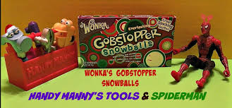 wonka gobstoppers christmas edition taste tested spiderman