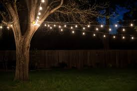 Industrial String Lights by Backyard Lighting Enchanting Patio Using Modern Outdoor Lighting