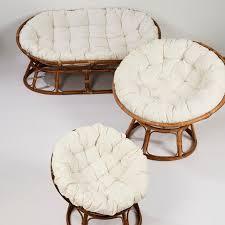 canap papasan mamasan lounge canapé naturel blanc cassé h 170 x larg 110 x