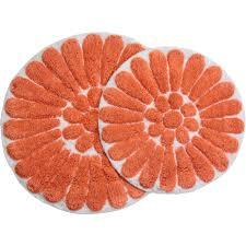 Bathroom Rugs Bathroom Set Of 2 Bathroom Rugs Orange Finish For