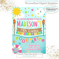 digital birthday invitations free ideas mermaid birthday