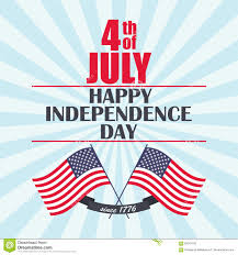 Th Flag Vector Happy Independence Day Background With Usa Flag Ribbon And