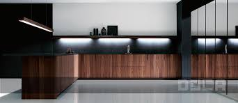 cuisine doca contemporary kitchen steel walnut island bunotte doca