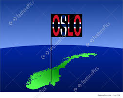 Flag Of Norway Oslo On Norway Map Stock Illustration I1441778 At Featurepics