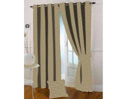 Gold Color Curtains Presto Light Gold Color Jacquard Eyelet Curtain India Ready