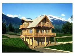 two story log homes 012l 0007 two story log home plan with finished basement two