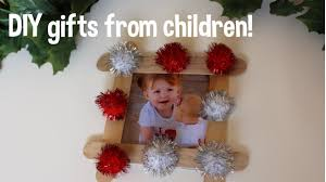 Homemade Christmas Gifts by Diy Christmas Gifts From Your Children Toddler Friendly Youtube