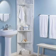 White Shelves For Bathroom - build these bathroom corner shelves from bi fold doors